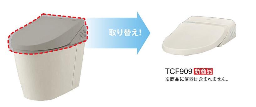 TOTO,ウォシュレット一体型取替機能部,TCF909