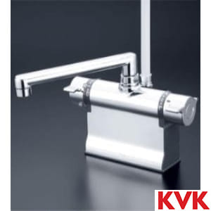 KF3011TS2 デッキ形サーモスタット式シャワーフルメッキワンストップシャワーヘッド付