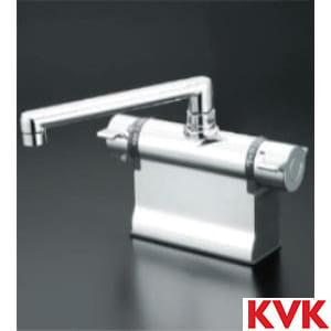 KM3011T デッキ形サーモスタット式混合栓(190㎜パイプ仕様)