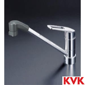 KM5211ZJTF 流し台用シングルレバー式シャワー付混合栓
