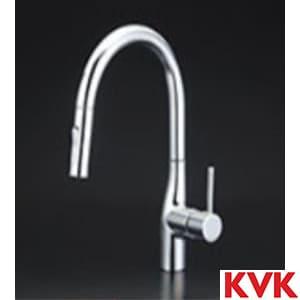 KM6061ZEC グースネックシングルレバー式混合栓