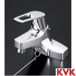 KM7014THPEC 洗面用シングルレバー式混合栓ゴム栓付