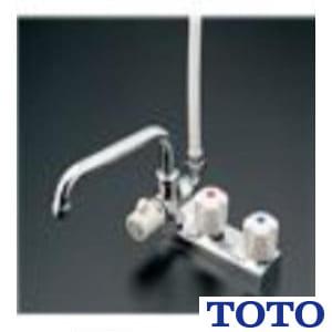 TM116CR 台付2ハンドル混合水栓(一時止水付、整流、スプレー)